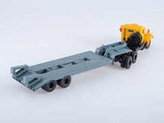 KRAZ-258B1 with semitrailer-heavy-carrier ChMZAP-5523 ​​yellow-gray 1:43 AutoHistory