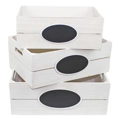 набор из 3-х ящиков 40x30x15,36x26x13,32x22x12 , с доской для записи