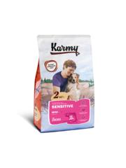 Корм для взрослых собак мелких пород, Karmy Sensitive Mini, с чувствительным пищеварением, с лососем