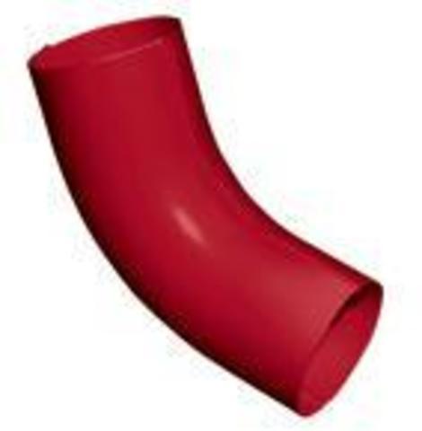 Колено стока ф90 (RAL 3005-винно-красный)