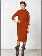 P2051-64 платье женское, темно-оранжевое