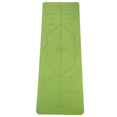 Коврик для йоги с разметкой Апельсин 183*61*5мм