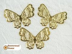 Филигрань Бабочка золотая № 2