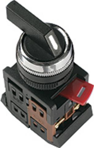 Переключатель АLСLR-22 черный на 3 фиксир.положения I-O-II 1з+1р TDM