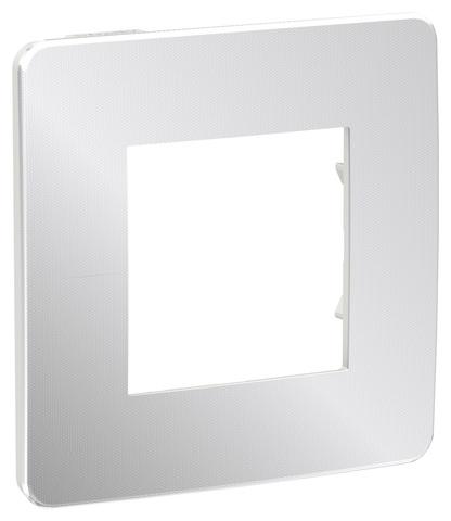 Рамка на 1 пост. Цвет Хром/белый. Schneider Electric Unica Studio. NU280255