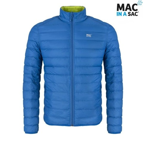 Пуховик Polar down jacket Blue/Lime Mac in a Sac