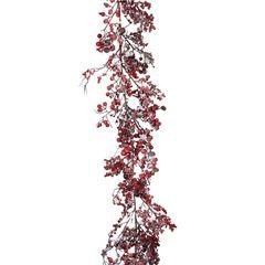 Гирлянда с ягодами 180x16см House of Seasons красная в снегу