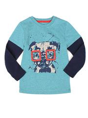 BTS010923 фуфайка детская, синий меланж