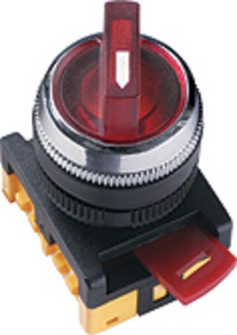 Переключатель АNС-22-2 на 2 фикс.полож.зеленый неон/230В I-O 1з+1р TDM
