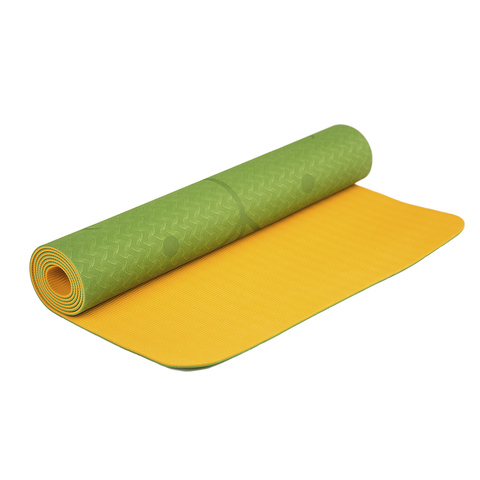 Коврик для йоги с разметкой Апельсин 183*61*0,5 см