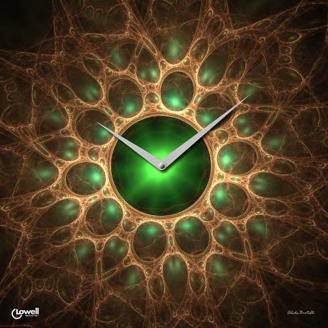 Часы настенные Lowell 07401 Pianeta verde