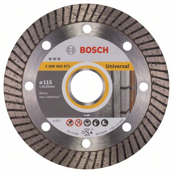 Алмазный диск Best for Universal Turbo 115-22,23 Bosch 2608602671