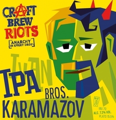 Пиво Karamazov Bros IPA Craft Brew Riots