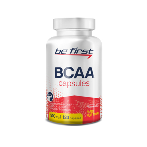 Be First BCAA 2:1:1, 500mg, 120 caps.