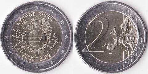 Кипр 2 евро 2012 Наличный евро