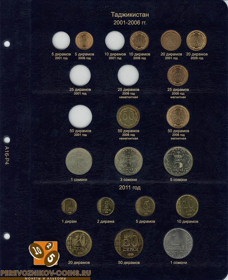 Альбом для регулярных монет СНГ КоллекционерЪ лист 4