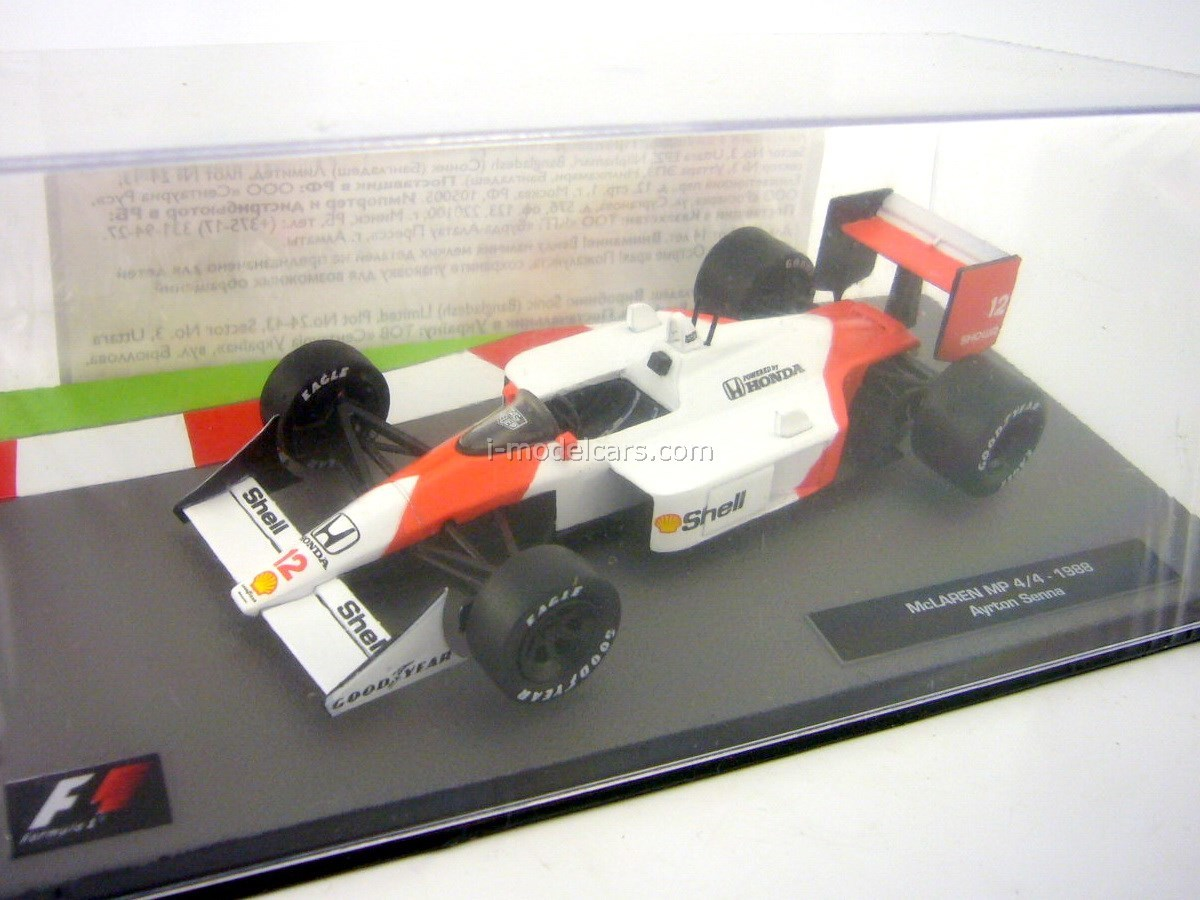 McLaren MP4/4 1988 Ayrton Senna F1 1:43 Formula 1 Auto Collection Centauria #1