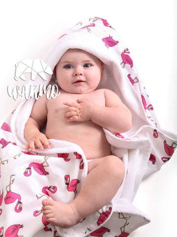 рушник для новонароджених з рожевими фламінго фото