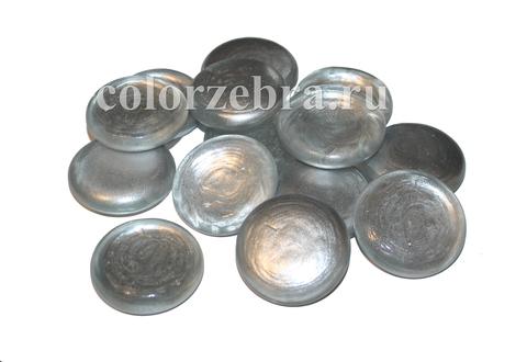 Стеклянные капли Эльвинги еребристые 4,5 см