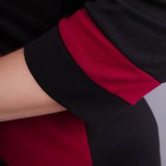 Карамель. Платья больших размеров. Бордо+Черный.