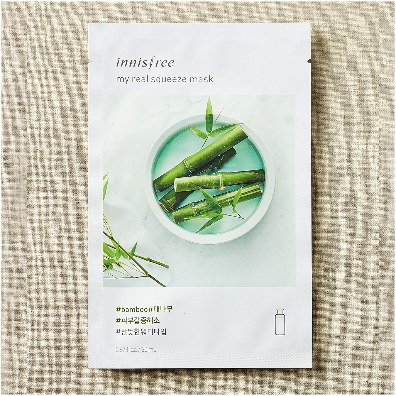 Innisfree My Real Squeeze Mask Вamboo