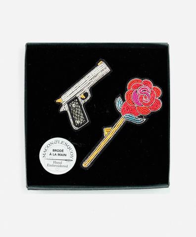 Сет из 2 брошей Gun & Rose