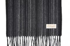 Шерстяной шарф черно-серый 30381
