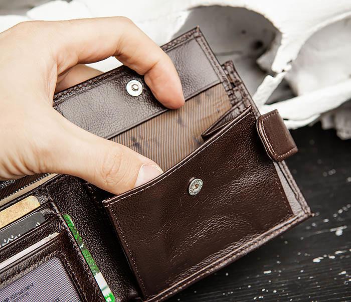 WL321-2 Мужское портмоне из коричневой кожи с монетницей, «Atos» фото 07
