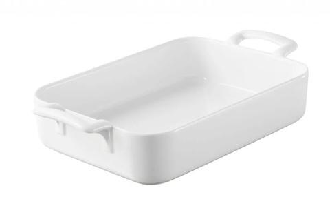 Прямоугольное фарфоровое блюдо для запекания белое, артикул 005571, серия Belle Cuisine