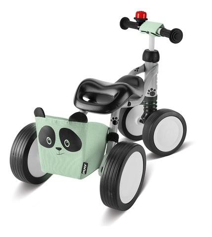 Беговел-каталка Puky Wutsch Panda 3027 grey серый/мятный, 1+