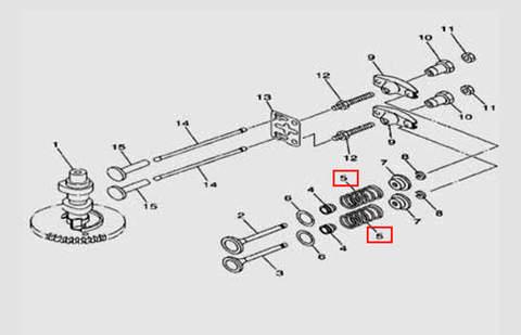 Пружина клапана для лодочного мотора F5 Sea-PRO(5-5)