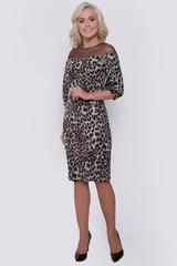 """Платье просто """"фантастика""""! Оригинальный крой, плюс обворожительный модный принт """"лео"""" - отличное решение для любой вечеринки.Длина изделия 46р.-52р.- 95 см.-102см."""