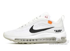 Кроссовки OFF White X Nike Air Max 97 White Orange