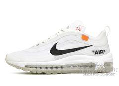Кроссовки OFF White X Nike Air Max 97 White Orange