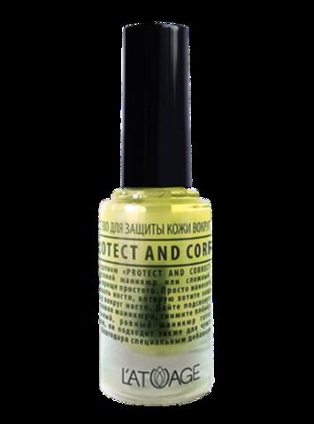 L'atuage Средство для ногтей Средство для защиты кожи вокруг ногтя «Protect and Correct» 8,5 г