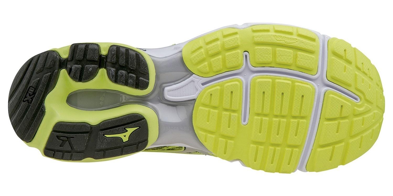 Мужские беговые кроссовки Mizuno Wave Rider 19 J1GC1603 05 желтые - фото, цена, размеры беговой обуви Мизуно