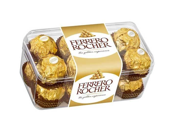 Шоколадные конфеты с лесным орехом Ferrero Rocher, 200 г