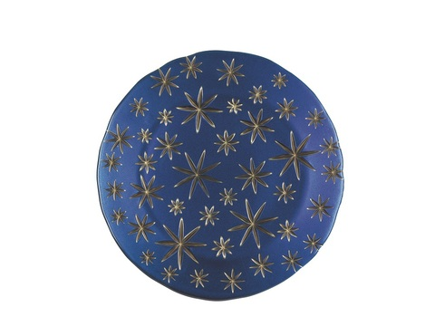Golden Stars Charger Plate Blue/Gold
