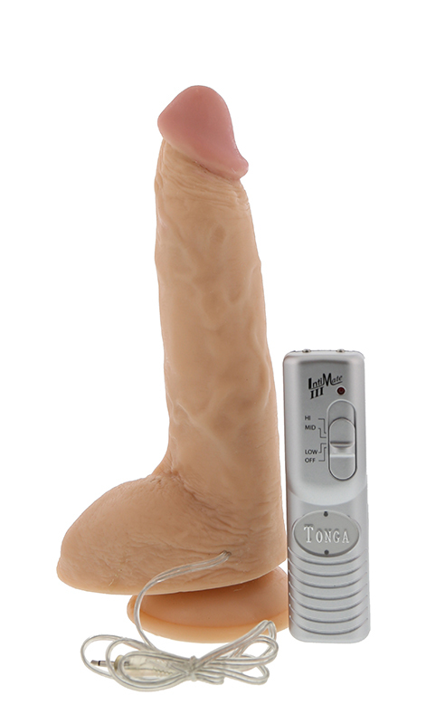 Реалистики: Реалистичный вибратор на присоске - 22,8 см.