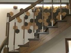 Декоративная деревянная панель  HarleyWood HEXAGON