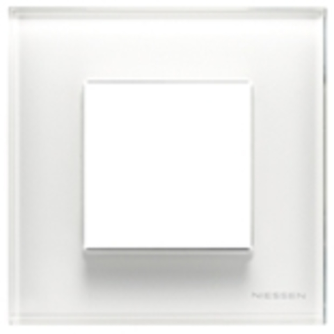 Рамка на 1 пост. Цвет Стекло белое. ABB(АББ). Niessen Zenit(Ниссен Зенит). N2271 CB
