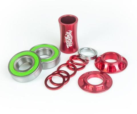 BMX Каретка TotalBMX Team Mid 19mm Красная