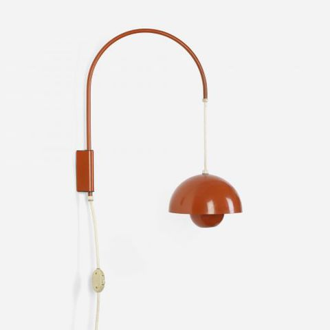 replica flowerpot wall lamp by Verner Panton
