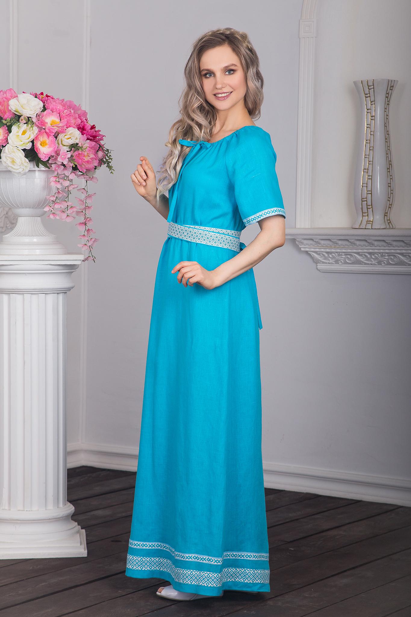 Платье традиционное Реченька вид сбоку