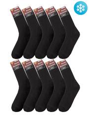 C30-1 носки мужские с махрой (10шт), черные