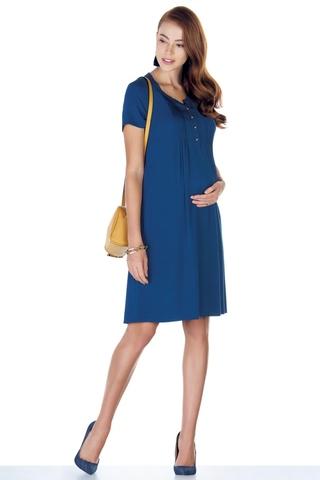 Платье для беременных 07589 индиго