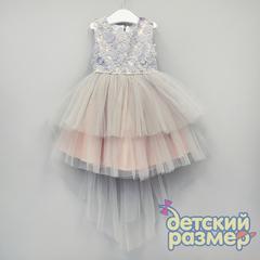 Платье 92-116 (объемные цветочки)