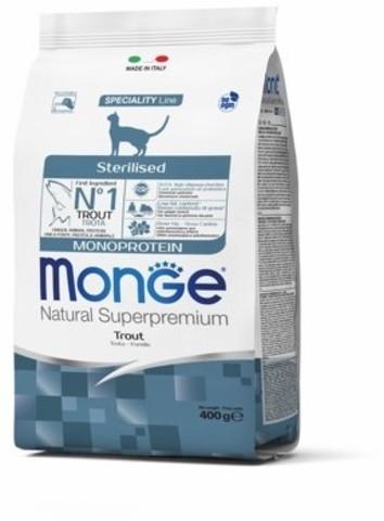 Monge Cat Monoprotein Sterilised Trout корм для стерилизованных кошек с форелью 400г