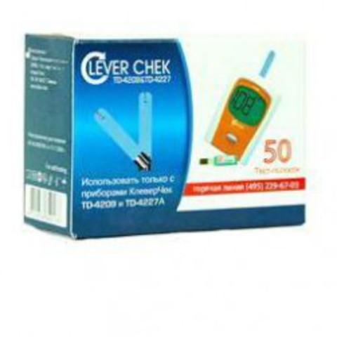 Тест-полоски Клевер Чек универсальные (Clever Chek TD-4209, 4227 50 шт)