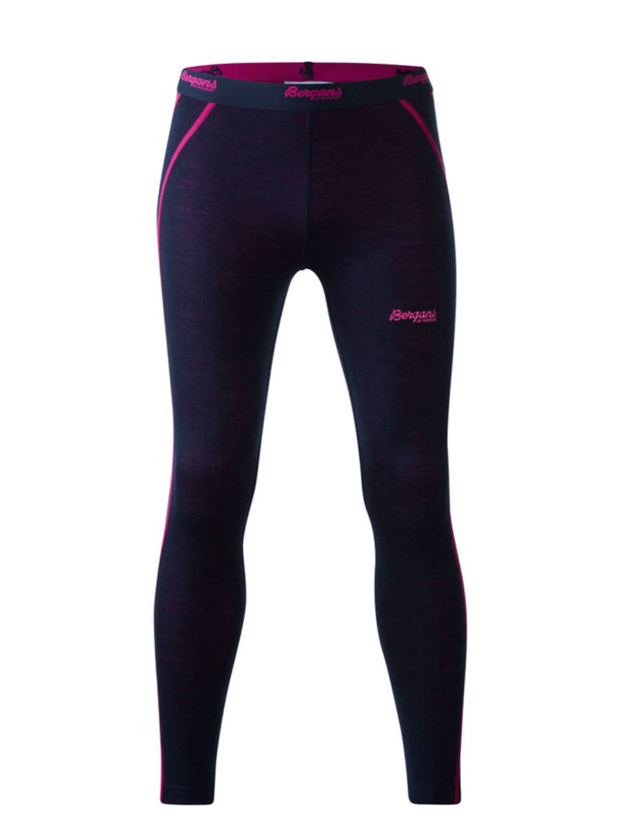 Bergans термобелье 1874 брюки Akeleie Youth Tights Navy/Hot Pink